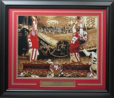 Joe Montana & Dwight Clark 16x20 autographed The Catch Collage photo framed