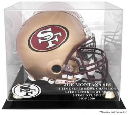 Joe Montana San Francisco 49ers Hall of Fame 2000 Golden Classic Helmet Case - Mounted Memories