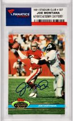 Joe Montana San Francisco 49ers Autographed 1991 Topps Stadium Club #327 Card