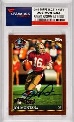 Joe Montana San Francisco 49ers Autographed 2000 Topps H.O.F. #HOF1 Card