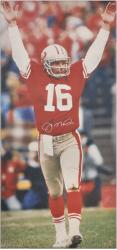 San Francisco 49ers Joe Montana Autographed Canvas - Mounted Memories