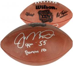 "Joe Montana San Francisco 49ers Autographed Super Bowl XXIV Logo Football with ""49ers 55 - Denver 10"" Inscription"