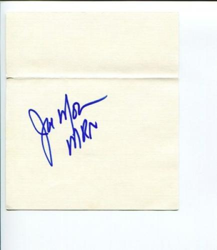 Joe Moore NASCAR Racing MRN Radio Announcer Signed Autograph