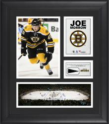 """Joe Morrow Boston Bruins Framed 15"""" x 17"""" Collage with Piece of Game-Used Puck"""
