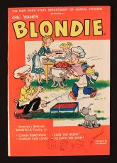 Artist Joe Musial Signed 1961 Blondie Comic Book with Sketches