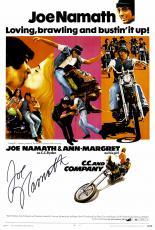 "Joe Namath Autographed 12"" x 18"" C.C. and Company Movie Poster"