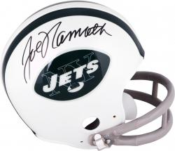 Joe Namath New York Jets Autographed Throwback Riddell Mini Helmet - Mounted Memories