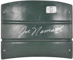 Joe Namath New York Jets Autographed Shea Stadium Seat Back - Mounted Memories