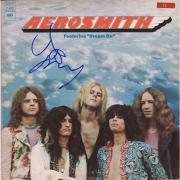 Joe Perry Aerosmith Autographed Aerosmith Album - JSA