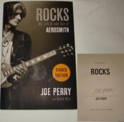Joe Perry Hand Signed   Autographed Rocks Book - Aerosmith