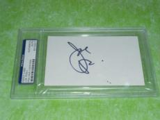 Joe Pesci Signed 3 X 5 Index Card Autographed In-person Psa/dna Slabbed