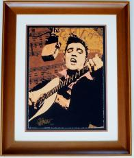 Joe Petruccio Signed - Autographed Elvis Presley Limited Edition Fine Art Giclee Lithograph Print - Wood Frame measures 32x27 inches - Custom Framed