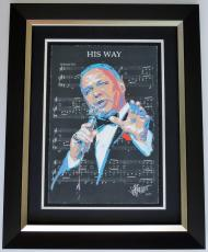 Joe Petruccio Signed - Autographed Frank Sinatra Limited Edition Fine Art Giclee Lithograph Print - Black Frame measures 32x25 inches - Custom Framed