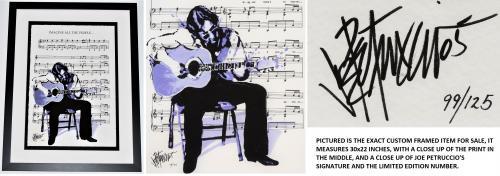 Joe Petruccio Signed - Autographed John Lennon IMAGINE Fine Art Giclee Lithograph Print - Black Custom Frame measures 28x22 inches - 2005 Limited Edition #99/125 - The Beatles - Guaranteed to pass PSA or JSA