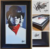 Joe Petruccio Signed - Autographed Tom Petty Limited Edition #33/50 Giclee Canvas Print - Custom BLACK FRAME measures 37X23 inches - Guaranteed to pass PSA or JSA