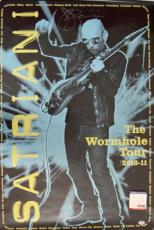 Joe Satriani Autographed Playing Guitar Live Poster Psa/Dna AFTAL
