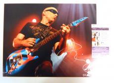 Joe Satriani Signed 11 x 14 Color Photo Pose #1 JSA Auto