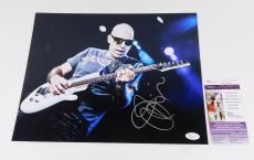 Joe Satriani Signed 11 x 14 Color Photo Pose #4  JSA Auto