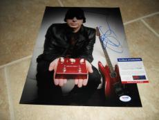 Joe Satriani Signed Autographed 11x14 Music Photo PSA Certified #2
