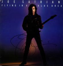 Joe Satriani Signed Flying In A Blue Dream Album Cover UACC RD COA AFTAL