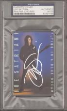 "JOE SATRIANI Signed ""Flying In A Blue Dream"" Cassette Cover PSA/DNA SLABBED"