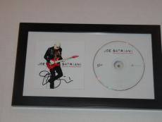 "Joe Satriani Signed Framed ""black Swans And Wormhole Wizards"" Cd Cover Rare"
