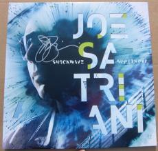 Joe Satriani signed LP Album Cover Shockwave Supernova PSA/DNA