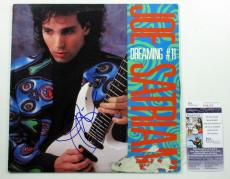 Joe Satriani Signed LP Record Album Dreaming #11 w/ JSA AUTO
