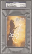 "JOE SATRIANI Signed ""The Extremist"" Cassette Cover PSA/DNA SLABBED #83927434"