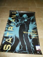 Joe Satriani The Wormhole Signed Autographed 24x36  Poster PSA Certified