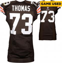 Joe Thomas Cleveland Browns Brown Game-Used Jersey October 5, 2014 vs. Tennessee Titans