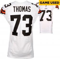 Joe Thomas Cleveland Browns White Game-Used Jersey November 23, 2014 vs. Atlanta Falcons
