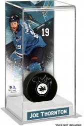 Joe Thornton San Jose Sharks Deluxe Tall Hockey Puck Case