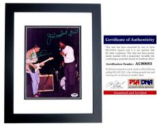 Joe Walsh and Jim Mudcat Grant Signed - Autographed 8x10 inch Photo with PSA/DNA Certificate of Authenticity (COA) BLACK CUSTOM FRAME