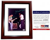 Joe Walsh and Jim Mudcat Grant Signed - Autographed 8x10 inch Photo with PSA/DNA Certificate of Authenticity (COA) MAHOGANY CUSTOM FRAME