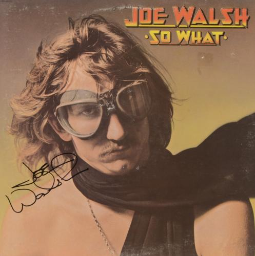 Joe Walsh Autographed So What Album Cover - PSA/DNA COA