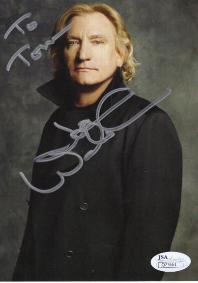 JOE WALSH HAND SIGNED 5x7 COLOR PHOTO     TO TOM    THE EAGLES GUITARIST     JSA