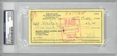Joe Walsh Signed Authentic Autographed Check Slabbed PSA/DNA #83464348