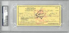 Joe Walsh Signed Authentic Autographed Check Slabbed PSA/DNA #83464350