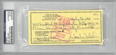 Joe Walsh Signed Authentic Autographed Check Slabbed PSA/DNA #83464354