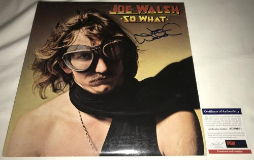 Joe Walsh Signed Autographed So What Album LP - PSA DNA Certified