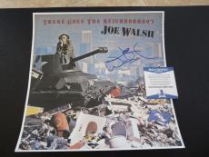 Joe Walsh The Eagles Signed The Neighborhood 12x12 LP Photo Beckett Certified