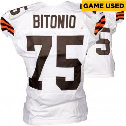 Joel Bitonio Cleveland Browns White Game-Used Jersey September 14, 2014 vs. New Orleans Saints