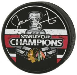 Joel Quenneville Chicago Blackhawks Autographed 2010 Stanley Cup Champions Logo Puck