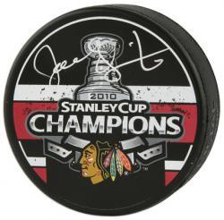 Joel Quenneville Chicago Blackhawks Autographed 2010 Stanley Cup Champions Logo Puck