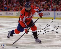 "Joel Ward Washington Capitals Autographed Red Jersey Shooting 8"" x 10"" Photograph"