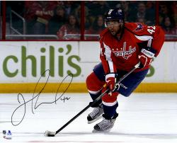 "Joel Ward Washington Capitals Autographed Skating With Puck 16"" x 20"" Photograph"