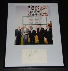 Joey Bishop Signed Framed 11x14 Photo Display w/ The Rat Pack