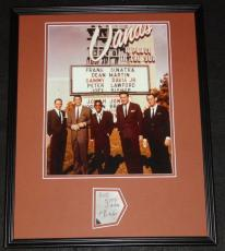 Joey Bishop Signed Framed 16x20 Photo Poster Display JSA w/ Rat Pack Sands