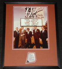 Joey Bishop Signed Framed 16x20 Photo Poster Display JSA w/ Rat Pack Sands B